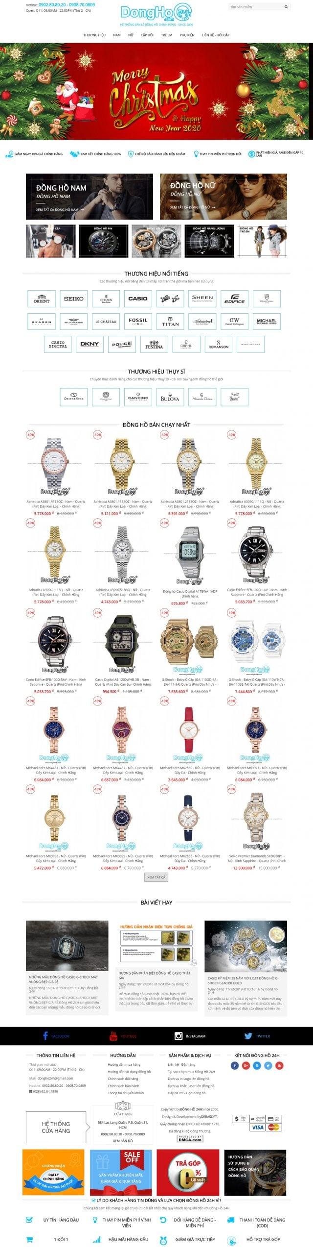 Mẫu thiết kế website bán hàng – dongho24h.com Đồng Hồ 24H ® – Đồng Hồ Đeo Tay Nam Nữ Chính Hãng Giá Rẻ