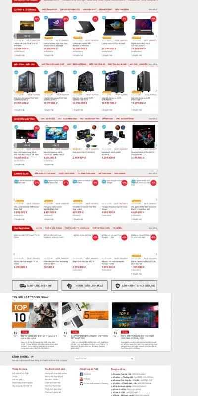 Mẫu thiết kế website Công Ty Máy Tính An Phát Uy Tín – Chuyên Laptop, Máy tính, Thiết bị _ – www.anphatpc.com.vn