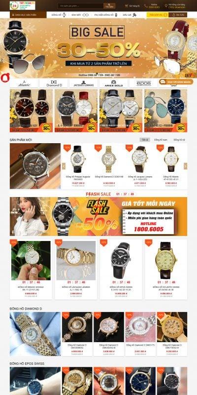 Mẫu thiết kế website bán hàng – dangquangwatch.vn đồng hồ thụy sĩ đồng hồ nam, đồng hồ nữ