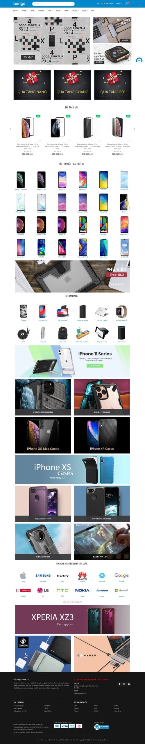 Mẫu thiết kế website bán hàng Smart Accessories, tech and gadgets – Bengo.vn