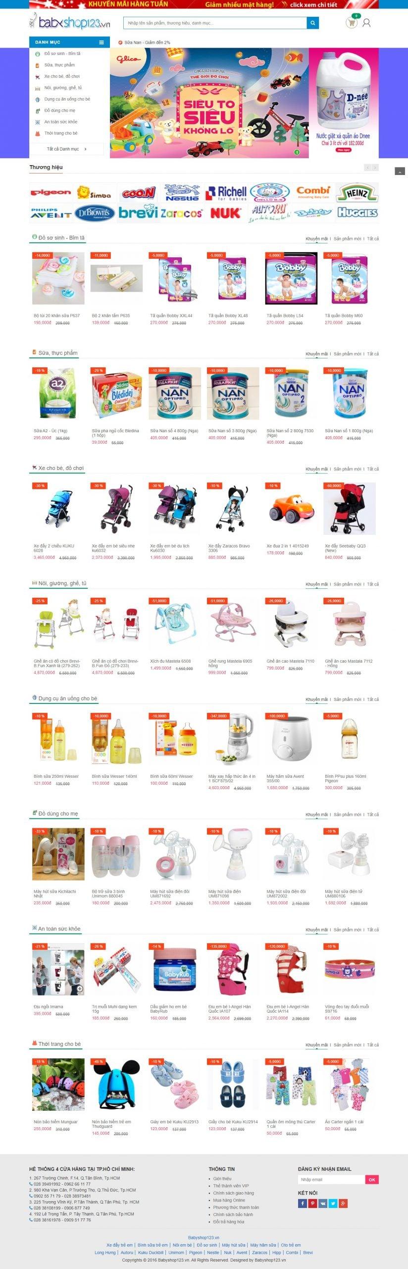 Mẫu thiết kế website bán hàng Babyshop123.vn – Hệ thống siêu thị Mẹ & Bé-www.babyshop123.vn