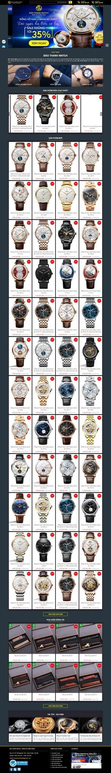 Mẫu thiết kế website bán hàng – donghobaothanh.vn Đồng Hồ Bảo Thanh, Đồng Hồ Chính Hãng, Đồng Hồ Đeo Tay Nam Nữ