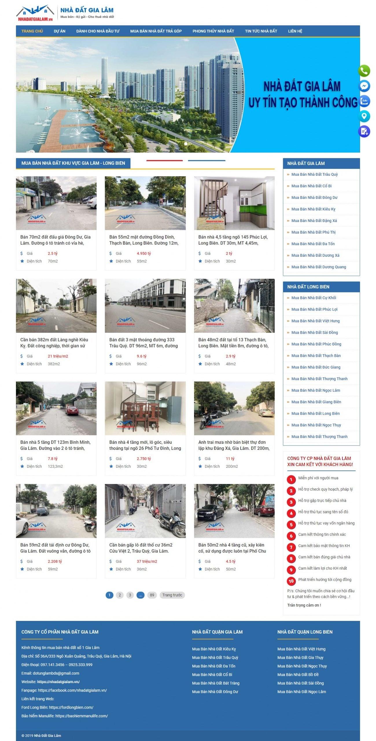 Mẫu thiết kế website bất động sản -nhadatgialam.vn- Nhà đất Gia Lâm – Kênh thông tin bất động sản – Mua bán nhà đất số 1 Gia Lâm