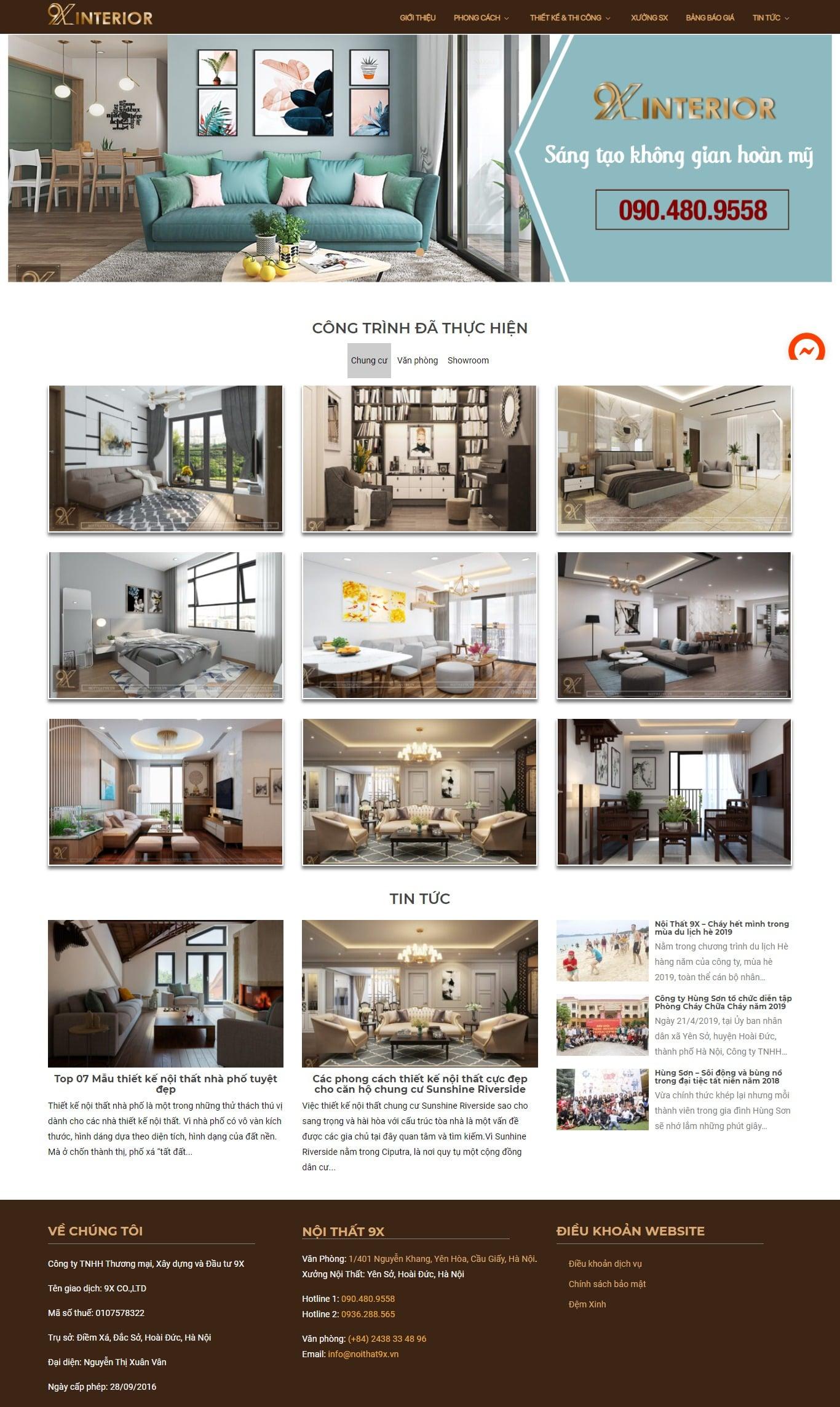 Mẫu thiết kế website bán hàng -noithat9x.vn Nội Thất 9X – Công Ty Thiết Kế, Thi Công Nội Thất
