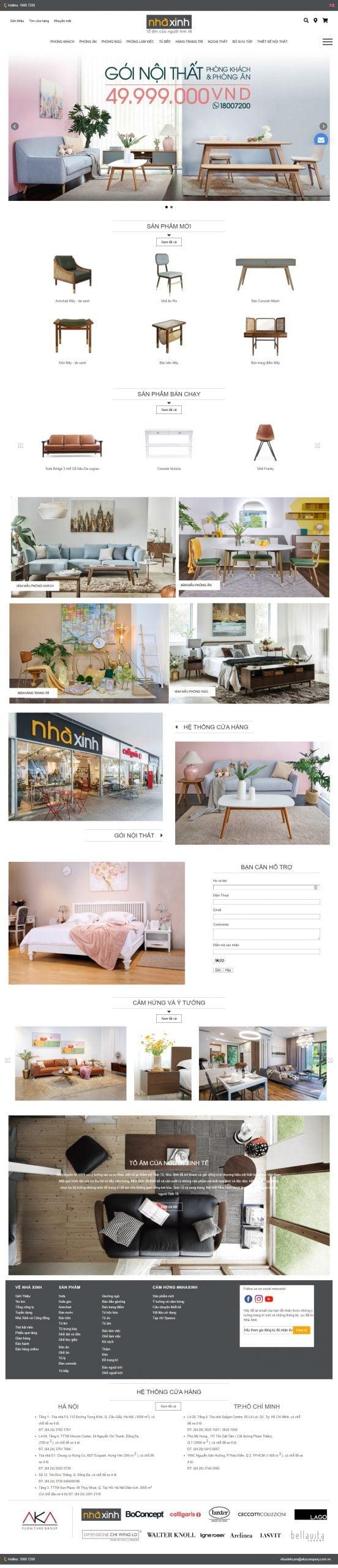 Mẫu thiết kế website bán hàng – www.nhaxinh.com Nội thất Nhà Xinh – Nội thất cao cấp – Đồ gỗ cao cấp
