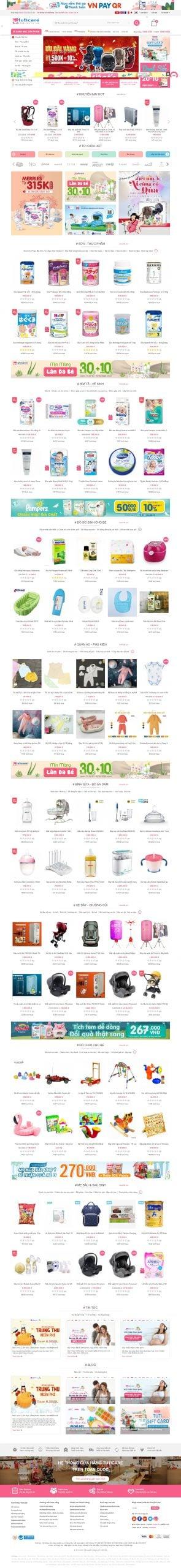 Mẫu thiết kế website bán hàng – tuticare.com TutiCare – Hệ thống cửa hàng mẹ và bé uy tín hàng đầu Việt Nam – Leading Bab