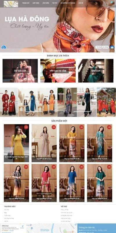 Mẫu thiết kế website Lụa Hà Đông – luahadong.com.vn