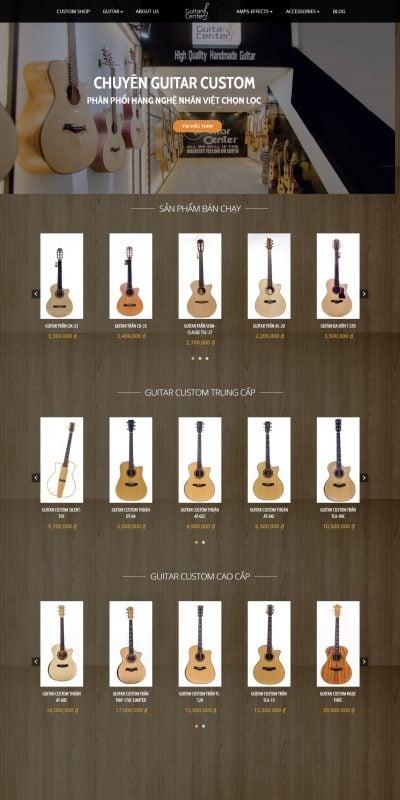 Mẫu thiết kế website bán hàng HT Guitar Center – htguitarcenter.vn