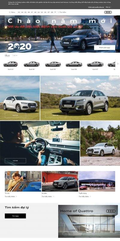 Mẫu thiết kế website bán hàng Audi Vietnam – www.audi.vn