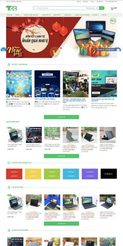 Mẫu thiết kế website bán hàng Trang chủ – LaptopTCC – LaptopTCC – laptoptcc.com