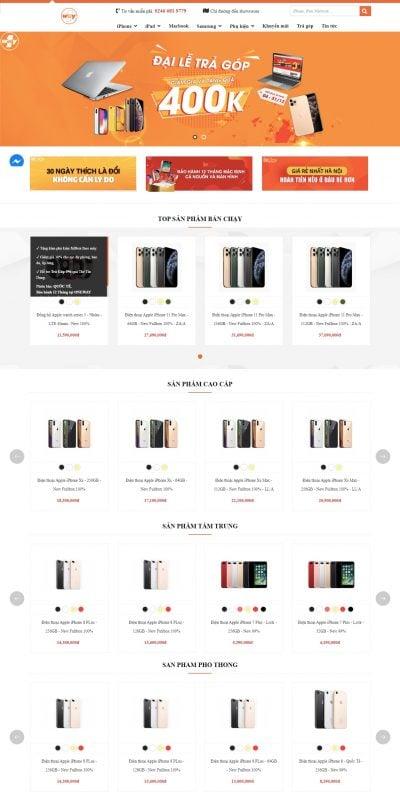 Mẫu thiết kế website bán hàng OneWay Mobile – onewaymobile.vn