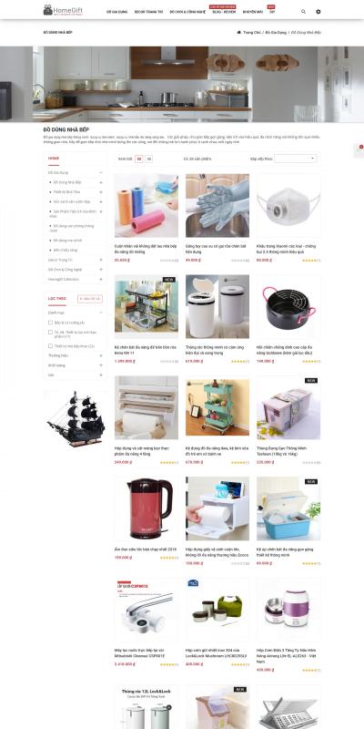 Mẫu thiết kế website bán hàng Đồ gia dụng nhà bếp thông minh, đa năng, dụng cụ làm bánh, nấu ăn_ – homegift.vn