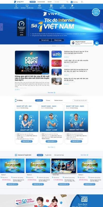 Mẫu thiết kế website Tập đoàn Bưu chính Viễn thông Việt Nam – VNPT – vnpt.com.vn