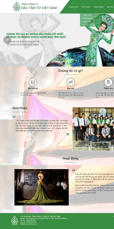 Mẫu thiết kế website Công Ty Cổ Phần – Tổng Công Ty Dâu Tơ Tằm Việt Nam (Viseri) – viseri_ – viseri.com.vn