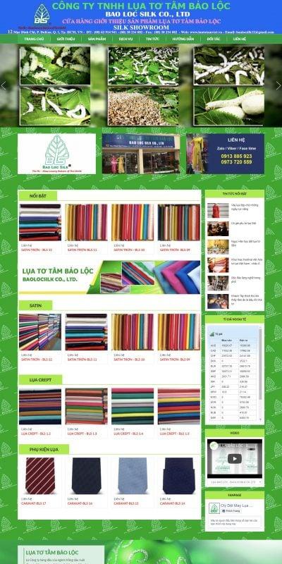 Mẫu thiết kế website CÔNG TY TNHH LỤA TƠ TẰM BẢO LỘC – luatotamviet.net