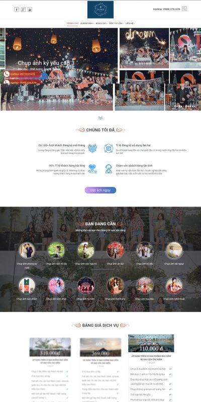 Mẫu thiết kế website Namnguyen Studio – Ảnh viện chuyên nghiệp uy tín nhất tại Hà Nội_ – namnguyenstudio.com