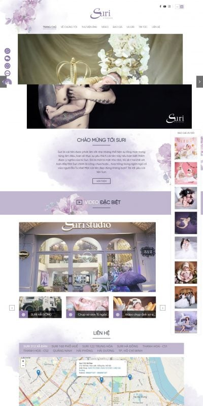 Mẫu thiết kế website Welcome to your family studio – Suri Studio – www.suristudio.com