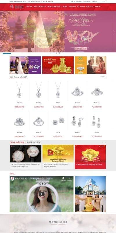 Mẫu thiết kế website bán hàng trangsuc.doji.vn – Trang sức DOJI