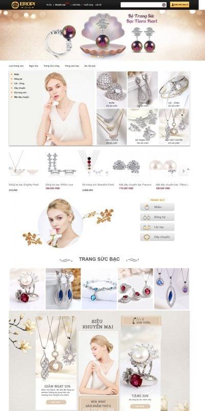 Mẫu thiết kế website bán hàng eropi.com Eropi Jewelry – Trang sức cao cấp