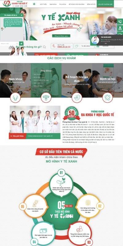 Mẫu thiết kế website Đa khoa Y học Quốc tế 12 -14 Kim Mã – Ba Đình – Hà Nội – nhahosinha.com.vn