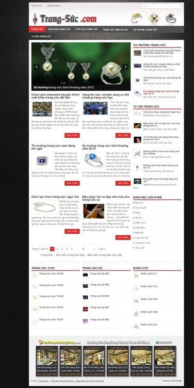 Mẫu thiết kế website bán hàng trang-suc.com Trang Sức – Thế Giới Trang Sức Đẹp – Mua Bán Trang Sức Cao Cấp