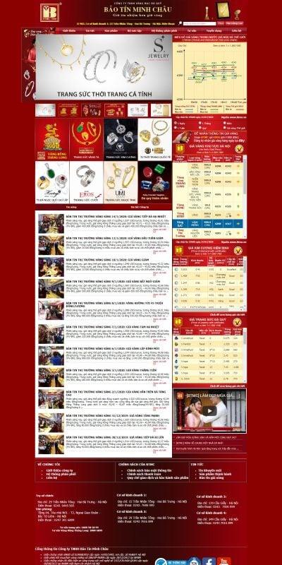 Mẫu thiết kế website bán hàng btmc.vn Công ty Vàng Bạc Đá Quý Bảo Tín Minh Châu – BTMC.VN – Giá vàng