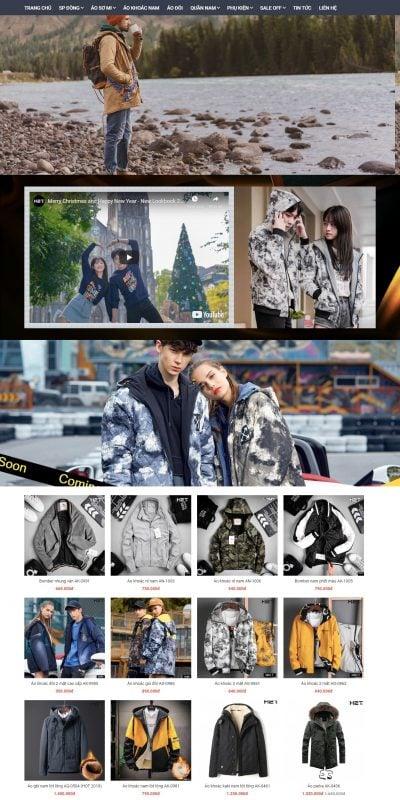 Mẫu thiết kế website bán hàng Shop Thời Trang Nam Online – H2T Việt Nam – h2tstore.vn