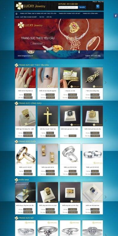 Mẫu thiết kế website bán hàng trangsuclucky.vn Trang sức Lucky – Trang sức đặt – Trang sức công giáo – Trang sức