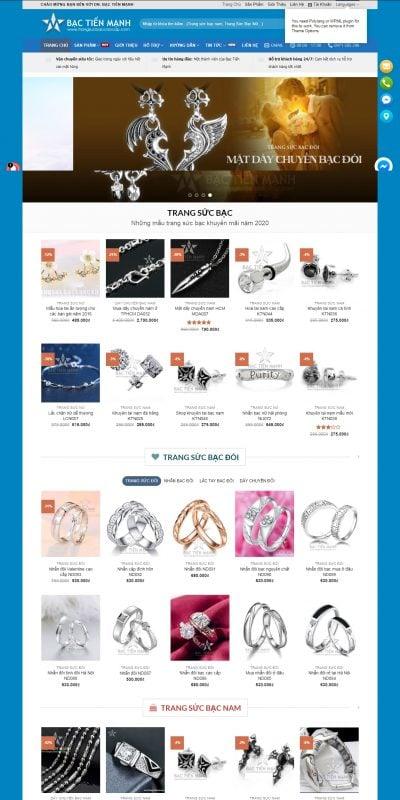 Mẫu thiết kế website bán hàng trangsucbaccaocap.com Trang sức bạc Tiến Mạnh – Trang Sức Bạc Nam, Nữ Cao Cấp