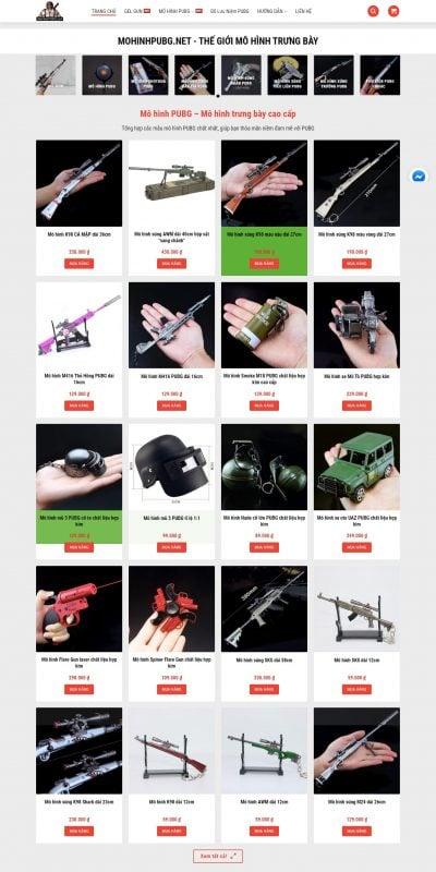 Mẫu thiết kế website bán hàng Thế giới mô hình PUBG – mohinhpubg.net – mohinhpubg.net