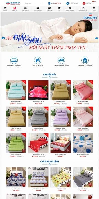 Mẫu thiết kế website bán hàng chanrathanhthuy.com Chăn Ra Thanh Thủy – Công Ty TNHH TM SX Thanh Thủy