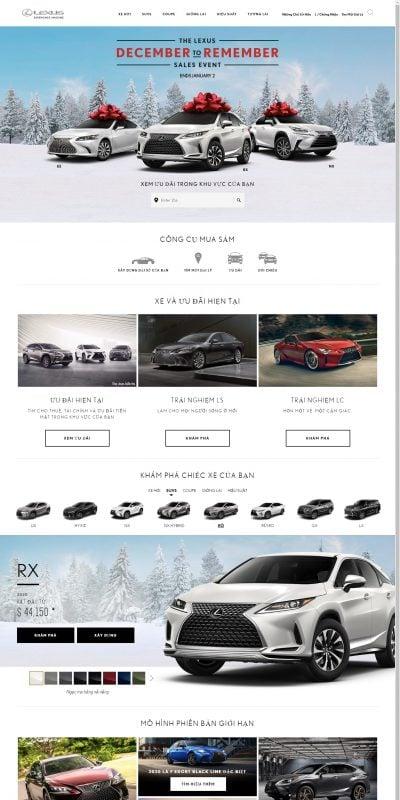Mẫu thiết kế website bán hàng Lexus – Trải nghiệm tuyệt vời – www.lexus.com