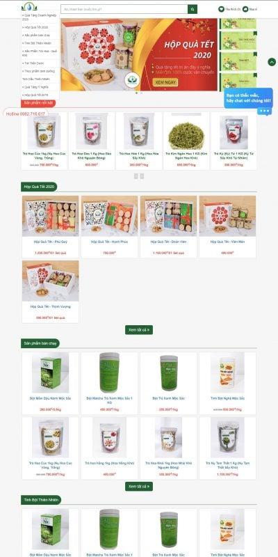 Mẫu thiết kế website bán hàng Siêu Thị Thiên Nhiên – Chuyên Sỉ Lẻ Tinh Bột, Tinh Dầu, Các Loại Trà_ – sieuthithiennhien.vn