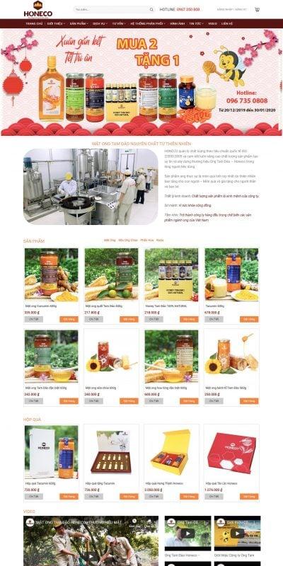 Mẫu thiết kế website bán hàng Mật ong Tam Đảo – Tinh Túy Từ Thiên Nhiên, Tốt Cho Sức Khỏe Và Làm Đ_ – honeco.com