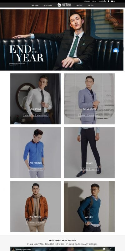 Mẫu thiết kế website bán hàng Thời trang Phan Nguyễn – pnf.vn