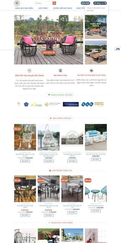 Mẫu thiết kế website bán hàng Mây Nhựa Hà Nội – Bàn Ghế Cafe Mây Nhựa, Sofa Mây Nhựa, Giường Tắm N_ – maynhuahn.com