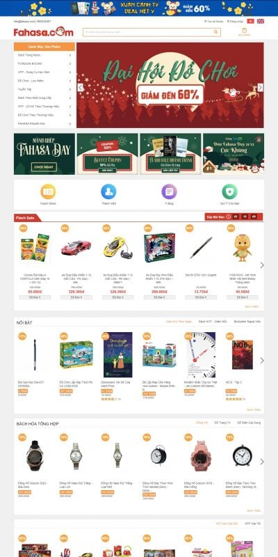 Mẫu thiết kế website bán hàng Nhà sách trực tuyến Fahasa.com – FAHASA.COM – www.fahasa.com