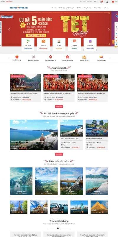 Mẫu thiết kế website bán hàng Mạng bán tour trực tuyến số 1 tại Việt Nam – Du lịch Vietravel_ – travel.com.vn