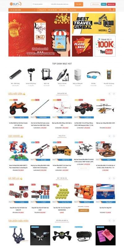 Mẫu thiết kế website bán hàng Siêu Thị Asun Bán Và Giao Hàng Toàn Quốc – asun.vn