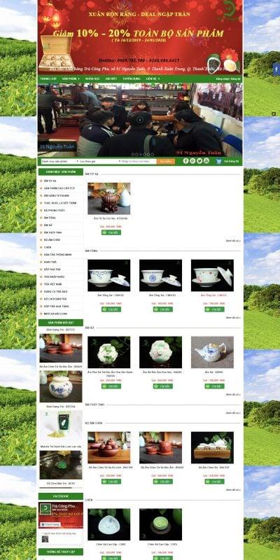 Mẫu thiết kế website bán hàng Trà Công Phu – Ấm Tử Sa – Bàn Trà Điện – Trà Cao Cấp – tracongphu.com