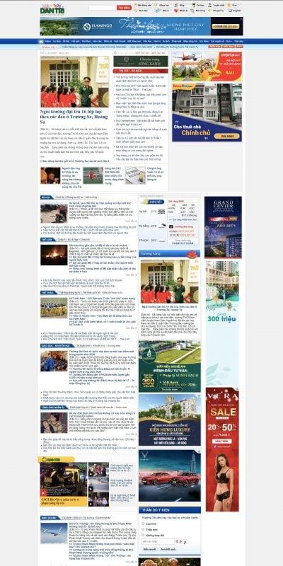 Mẫu thiết kế website tin tức Tin tức Việt Nam và quốc tế nóng, nhanh, cập nhật 24h – Báo Dân trí_ – dantri.com.vn