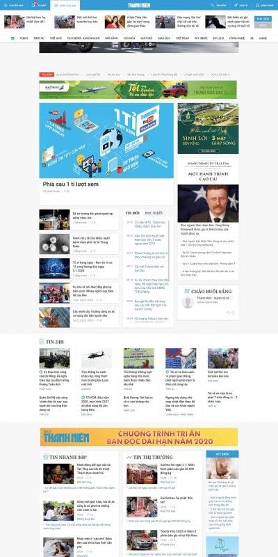 Mẫu thiết kế website tin tức Tin tức 24h mới nhất, tin nhanh, tin nóng hàng ngày – Báo Thanh Niên_ – thanhnien.vn
