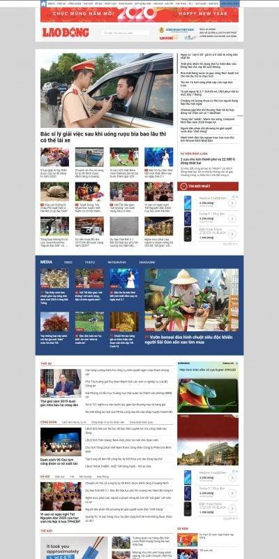 Mẫu thiết kế website tin tức Lao Động Online – LAODONG.VN – Tin tức mới nhất 24h – laodong.vn