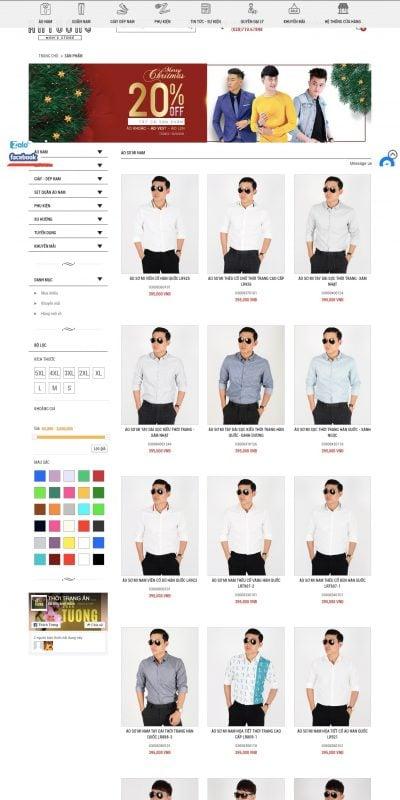 Mẫu thiết kế website bán hàng Những mẫu áo sơ mi nam đẹp nhất 2018 – Thời Trang Ấn Tượng – antuongshop.vn