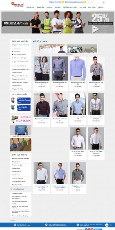 Mẫu thiết kế website bán hàng Áo Sơ Mi (Shirts) Nam Đẹp – Mẫu Mới – Hàng Chất Lượng Cao_ – fashionminhthu.com.vn