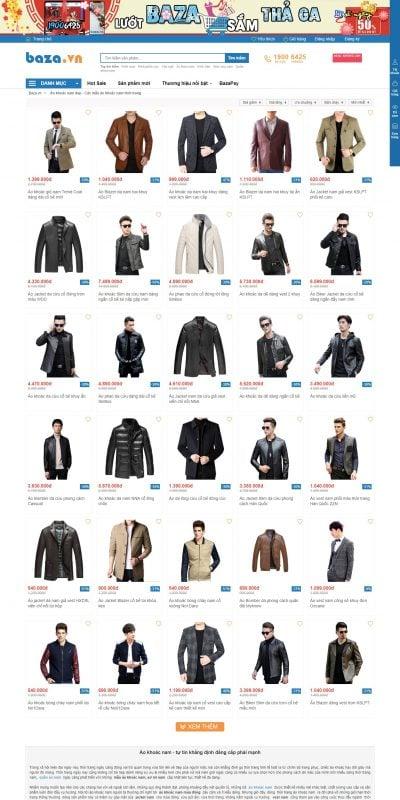 Mẫu thiết kế website bán hàng Áo khoác nam đẹp – Các mẫu áo khoác nam thời trang – Baza.vn – baza.vn