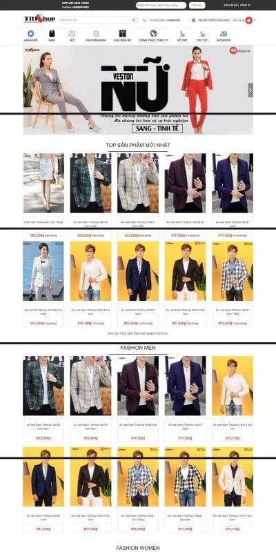 Mẫu thiết kế website bán hàng Titishop Chuyên Aó vest nam , áo vest nữ, bộ vest nam , cao cấp_ – titishop.vn