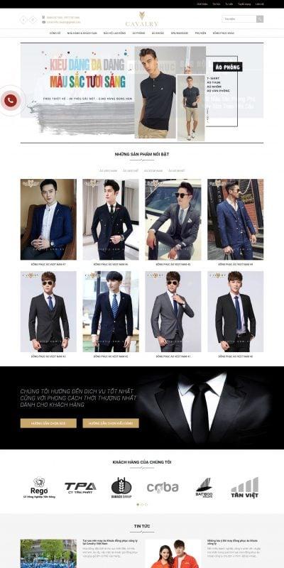 Mẫu thiết kế website bán hàng ÁO VEST DẠ NAM, SẢN PHẨM CHÍNH HÃNG HÀN QUỐC – benryhomme.com
