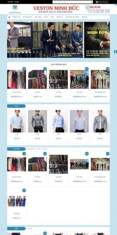Mẫu thiết kế website bán hàng VESTON NAM MINH ĐỨC – vestonminhduc.com