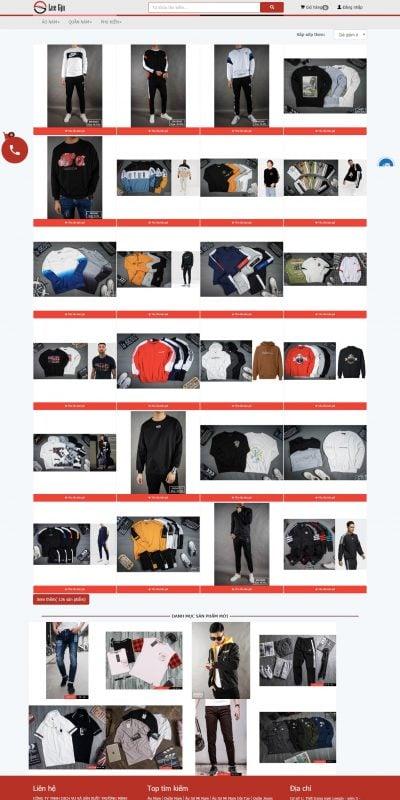 Mẫu thiết kế website bán hàng Áo Nỉ Nam Dài Tay – Leegjn Fashion – leegjn.vn